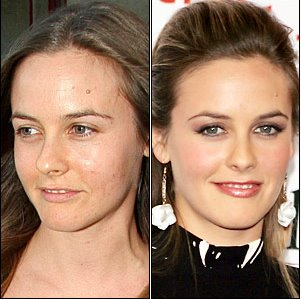 Celebrity without makeup before and after can suggest