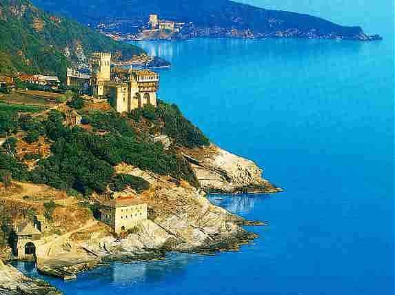 Athos island where