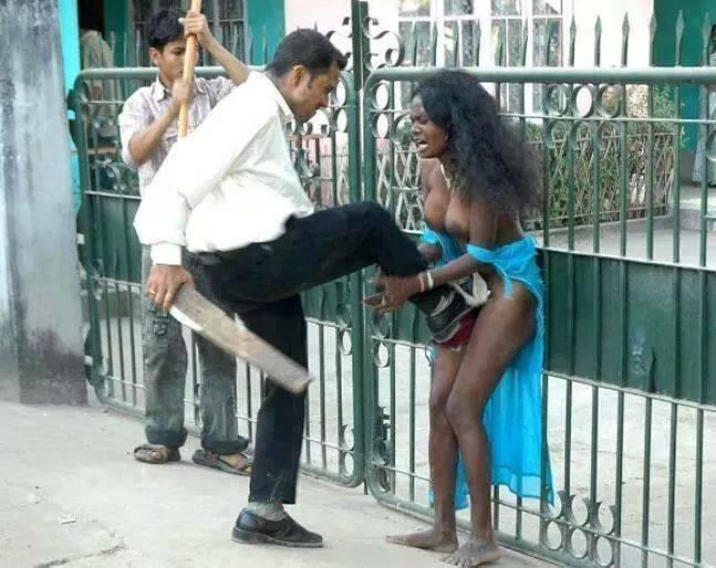 arab-man-attacking-african-woman